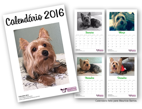 Calendário Personalizado - Tudo Sobre Cachorros
