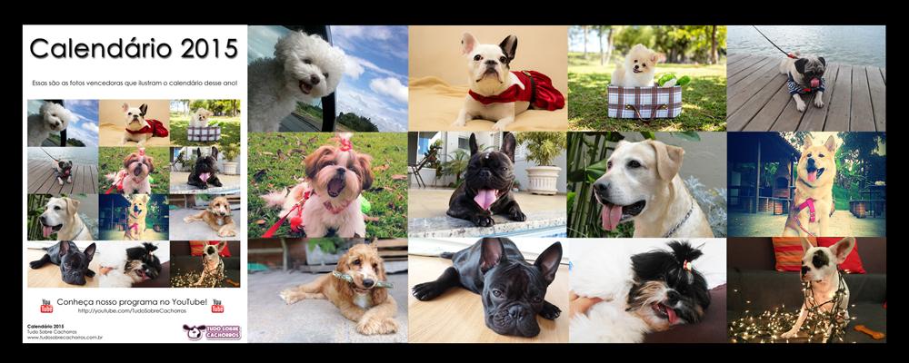 Calendário 2015 - Tudo Sobre Cachorros
