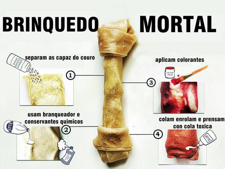 osso de couro perigoso