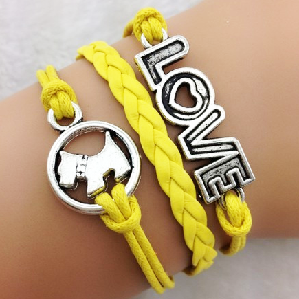 Pulseira amarela LOVE