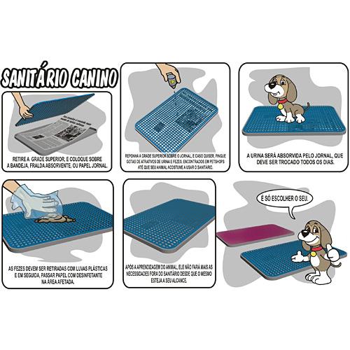 sanitário de plástico para cães